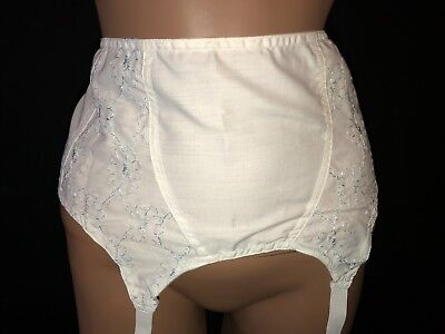 "Vintage White *NWT in Package* Sears Garter Belt W Metal Garters - 34-36"" Waist"