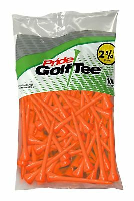 "Pride Sports Deluxe Golf Tees - 2 3/4"" - 100 Count - Citrus Orange"