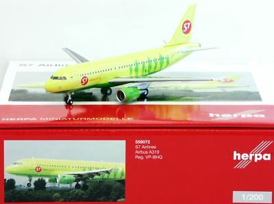 Herpa 1:200 559072 S7 Airlines Airbus A319 - NEU!