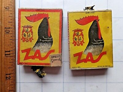 ZAS - Two ca.1930s? Mexican Matchboxes. One is unopened. Partly intact tax stamp