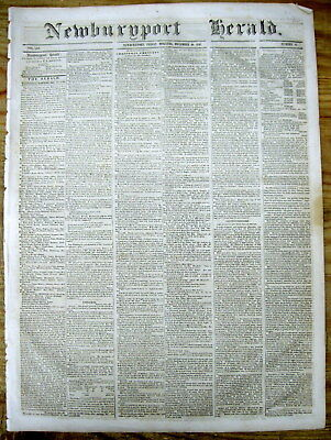 1848 display newspaper w front page report ofTHE DISCOVERY OF GOLD in CALIFORNIA