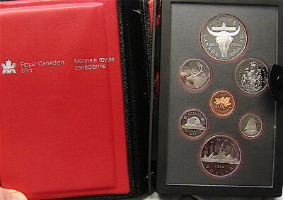1982 Canada Royal Canadian Mint Double Dollar Coin Set----7 Coins---Free Ship