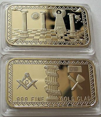 Goldbarren Freimaurer Masonic Faith Hope Charity Freemason Tempel des Salomon