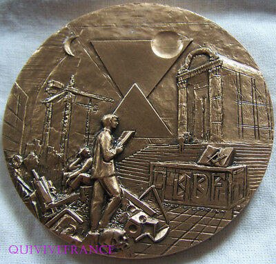Med7081 - Medaille Cinquantenaire G∴L∴N∴F∴ - R∴ E∴ A∴A∴Loge Amitie Phoceenne