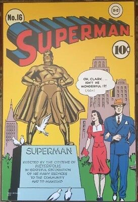 Superman Issue No. 16 DC Comics Vintage Wooden Wall Art Print 13u0027u0027 x & SUPERMAN ISSUE No. 16 DC Comics Vintage Wooden Wall Art Print 13u0027u0027 x ...