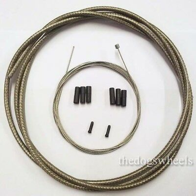Braided Titanium Gear Shift Cable Outer Jagwire Stainless inner Kit MTB Bike