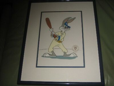 1962 Warner Brothers Sericel Baseball Bugs Framed and Matted