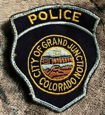 """vintage~CITY OF GRAND JUNCTION POLICE"""" PATCH co COLORADO LAW ENFORCEMENT OFFICER"""