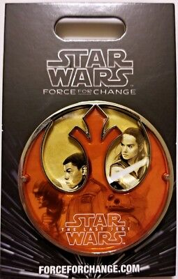 Disney Pin STAR WARS Last Jedi Limited Release stain glass Force for Change