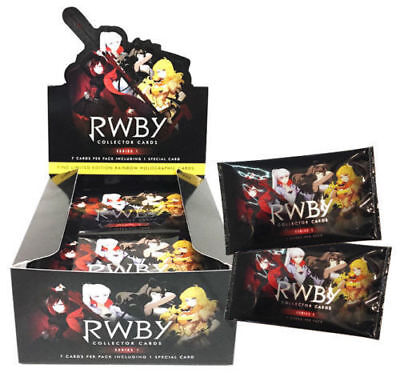 rwby collector cards series 1 factory sealed box