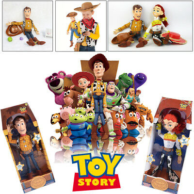 "39cm 16"" Disney Talking Woody Sheriff Doll Electronic 19 Phrases Toy Story 3 Kid"