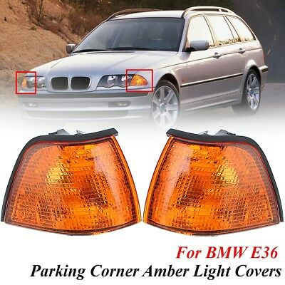 2x Amber Euro Corner Light Cover For BMW E36 3-Series Coupe/Convertible 4D 92-99