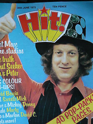 Hit Magazine 30Th June 1973 - Slade -  Osmonds - The Sweet -  T-Rex