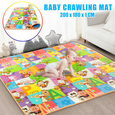 200x180cm Waterproof Baby Kids Play Mat Floor Rug Picnic Cushion Crawling Carpet
