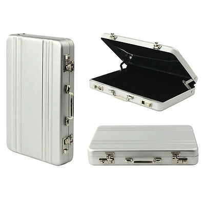 1*Metal Mini Briefcase Suitcase Business Credit Card Name Card Holder Case Box