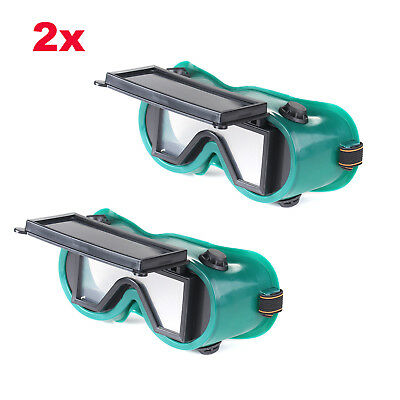 2x Cutting Grinding Welding Goggles With Flip Up Glasses Welder