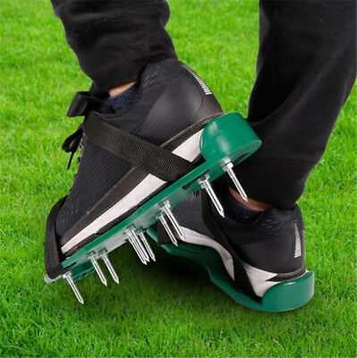 Lawn Aerator Shoes Grass 13 Nails Spikes 3 Straps with Buckles Size Adjustable