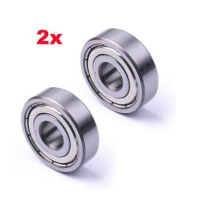 2Pc 6200Z Double Shielded Deep Groove Ball Bearing 30mmx10mmx9mm