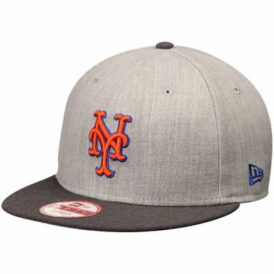 New York Mets New Era Action 9FIFTY Snapback Adjustable Hat - Heathered 3f37e11b5f0