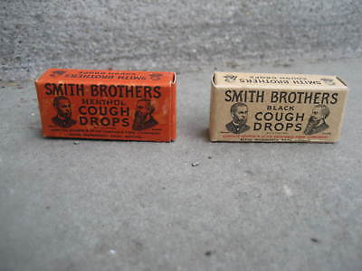Vintage Smith Brothers Cough Drop Free Sample Boxes.....Lot of 2 Different