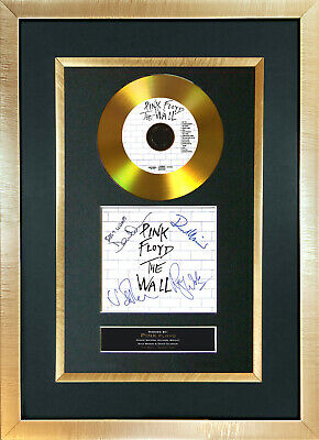 #115 GOLD DISC PINK FLOYD  The Wall Album Signed Autograph Mounted Repro A4