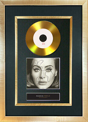 #117 GOLD DISC ADELE 25 Album Cd Signed Autograph Mounted Repro A4