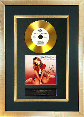 #139 GOLD DISC BRITNEY SPEARS One More Time Signed Autograph Mounted Repro A4