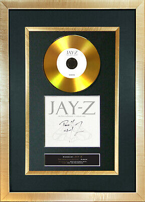 #128 GOLD DISC JAY Z The Hits Collection Album Signed Autograph Mounted Repro A4