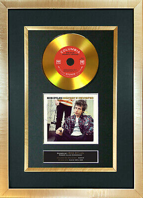 #143 GOLD DISC BOB DYLAN Highway 61 Album Cd Signed Autograph Mounted Repro A4