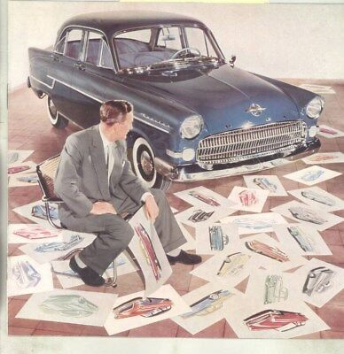 1958 Opel Kapitan Design Rendering Styling Brochure wz3147
