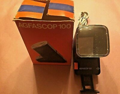 AGFASCOP 100  35MM Slide Viewer Projector AC Powered Backlit Made in Germany