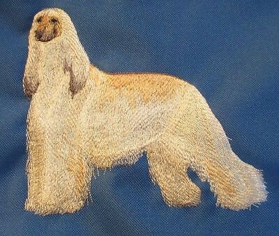 Embroidered Short-Sleeved T-shirt - Afghan Hound C3529 Sizes S - XXL