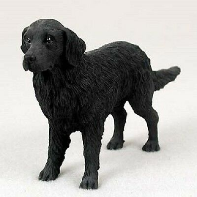 FLAT COATED RETRIEVER Dog HAND PAINTED FIGURINE Resin Statue COLLECTIBLE puppy