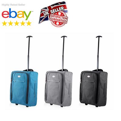 Small Wheeled Suitcase Travel Cabin Bag Carry On Soft Case Hand Luggage Trolley