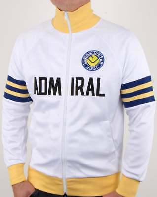 Leeds United 1978 Admiral Retro Track Top in White Yelow & Blue - official track