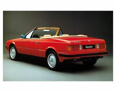 1990 Maserati Spyder E Factory Photo m2220-4S72XB