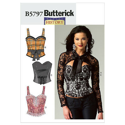 Butterick 5797 Misses' Corset, Sash & Shrug Sewing Pattern Bridal Club Burlesque