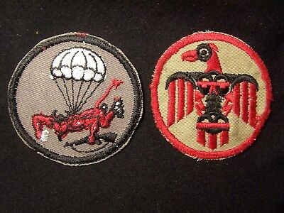 Very Rare Two Original Vintage Wwii  Sleeve Patches