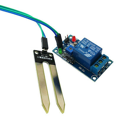 DC 12V Soil Moisture Sensor Controls Controller Relay Modules Automatic Watering