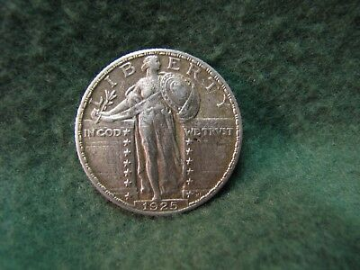 1925  Standing Liberty Quarter Date is Clear  90% Silver 25 Cent Coin