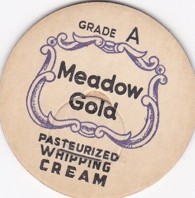 Milk Bottle Cap. Meadow Gold Whipping Cream. Maverick. Dairy