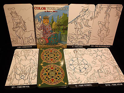 Sealed Brand New! Color Your Tarot Cards Major Arcana Deck 22 Cards In Box