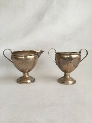 Hamilton Sterling Silver Creamer and Sugar Weighted Bases