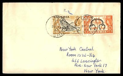 Oyo Jan 26 1954 Cancels On Cover To New York Usa