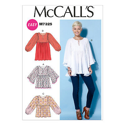 695795c5c4a2 MCCALL S 7325 EASY Sewing Pattern to MAKE Misses  Gathered Tops and ...
