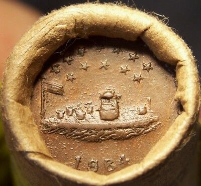1903 Indian/civil War Token Ends Great Old Mixed Antique Roll As Shown #9054