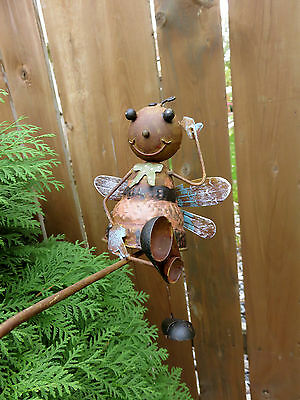DRAGONFLY GARDEN WOBBLER BALANCE TOY 39 IN.x 23 IN. FLOWER BED STAKE YARD DECO