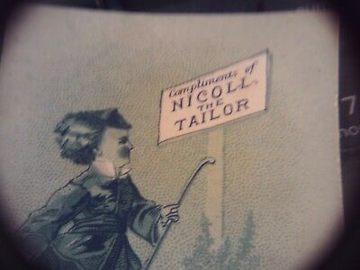 Nicoll The tailor  Victorian advertising card.  Hartford CT