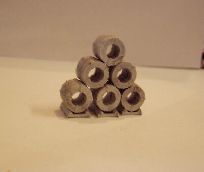 P&D Marsh N Scale n Gauge M59 Steel coils large + dunnage require painting