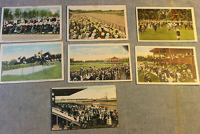 7 Antique Saratoga Springs Ny Horse Race Track Toronto Canada Postcard Lot